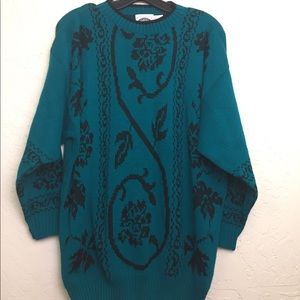 NWOT 90s Vintage Emerald Green Pullover Sweater